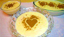 Rice pudding (arroz con leche).
